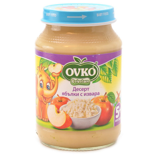 Ovko Бебешки млечен десерт с извара Ябълки от 5-ия месец 190 гр.